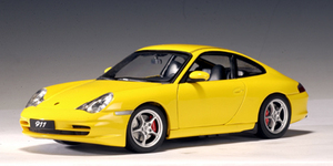 SALE Porsche 911 (996)  Carrera Coupe Yellow 1/18 Scale by AUTOart SALE