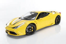 FERRARI 458 SPECIALE YELLOW1:18 BY HOT WHEELS ELITE EDITION