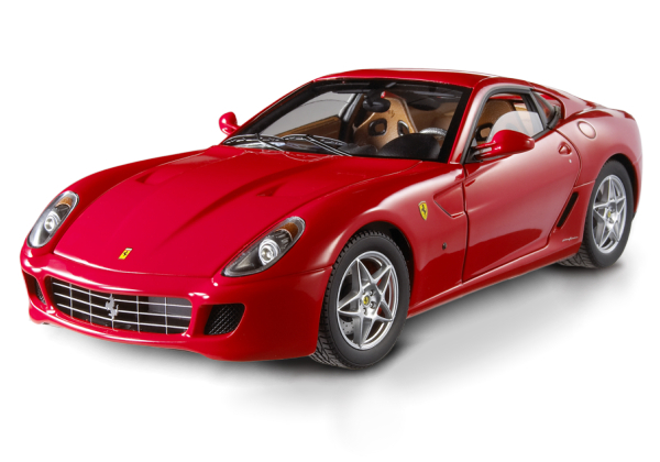 FERRARI 599 GTB FIORANO RED HOT WHEELS SUPER ELITE EDITION 1:18 NEW IN BOX HARD TO FIND