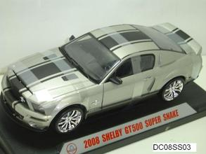 2008 FORD MUSTANG SHELBY GT500 SUPERSNAKE SILVER 1:18 by SHELBY COLLECTIBLES