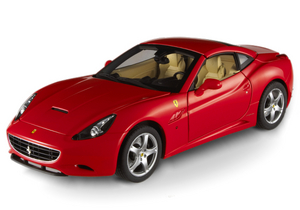 FERRARI CALIFORNIA SPIDER RED ON SADDLE 1/18th Scale by Hot Wheels ELITE EDITION