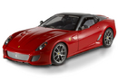 FERRARI 599 GTO RED WITH BLACK ROOF 1:18 by HOT WHEELS ELITE EDITION
