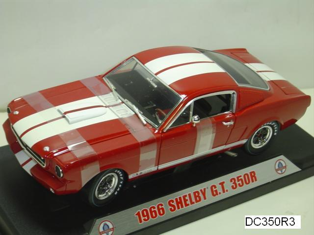 1966 FORD MUSTANG GT 350R RED WITH WHITE STRIPES 1:18 by SHELBY COLLECTIBLES