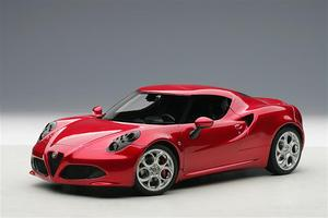 ALFA ROMEO 4C RED 1:18 by AUTOart NEW COMPOSITE MODELS