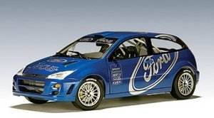 FORD FOCUS WRC RALLY PRESENTATION CAR BLUE 1:18 by AUTOart