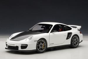 PORSCHE 911 (997) CARRERA COUPE GT2 RS MATT WHITE AUTOart 1:18 #77963 BRAND NEW IN BOX