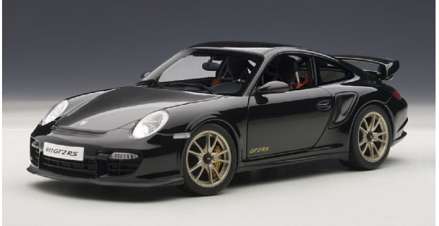 PORSCHE 911 (997) CARRERA COUPE GT2 RS MATT BLACK AUTOart 1:18 #77962 BRAND NEW IN BOX