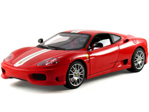 Ferrari 360 Modena Challenge Stradale Red 1/18 Scale by Hot Wheels ELITE Edition