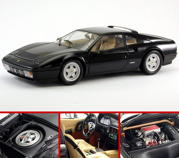 Ferrari 328 GTB BLACK by KYOSHO 1/18 Scale