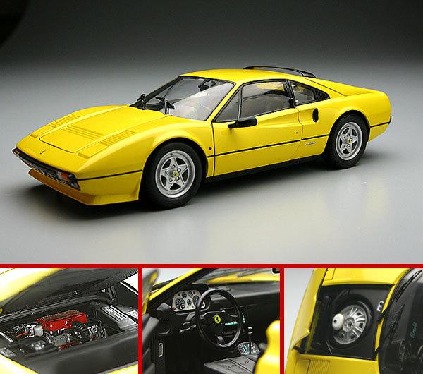 Ferrari 308 GTB Quattro Valve YELLOW by KYOSHO 1/18 Scale