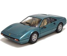 Ferrari 308 GTB 1976 Blue PARIS AUTO SALON CAR by KYOSHO 1/18 Scale