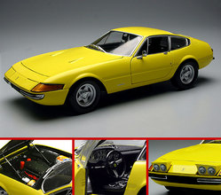 Ferrari 365 GTB4 Daytona Yellow by KYOSHO 1/18 Scale