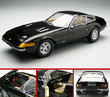 Ferrari 365 GTB4 Daytona Black by KYOSHO 1/18 Scale