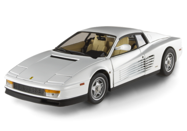 Ferrari Testarossa White Stars Series Hot Wheels ELITE 1/18 Scale