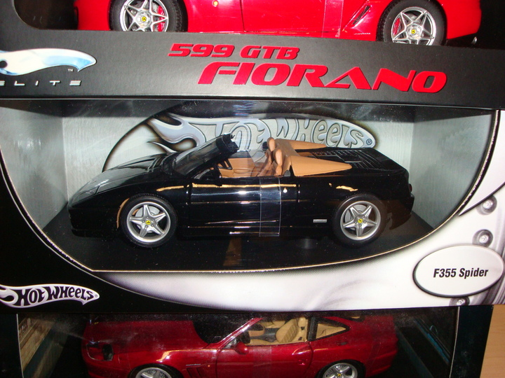 Ferrari F355 Spider Black & Tan 1/18th Scale by Hot Wheels