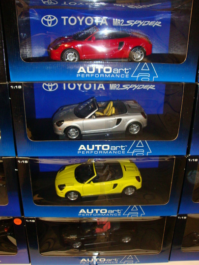 BLOW OUT SALE,3 MODELS for 1 Price!! Toyota MRS Spyders Red, Black, Yellow & Silver