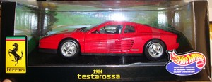 Ferrari Testarossa Red Hot Wheels 1/18 Scale