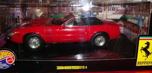 Ferrari 365 GTS/4 Daytona Spider Red Hot Wheels 1/18 Scale