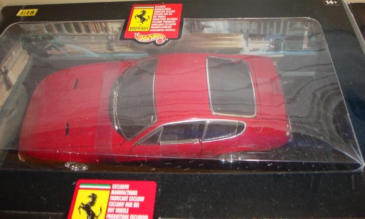 Ferrari 365 GTS/4 Daytona Coupe Red Hot Wheels 1/18 Scale
