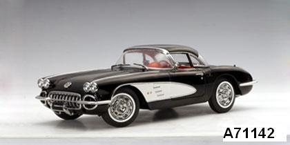 1959 Chevrolet Corvette Black 1/18th Scale by AUTOart