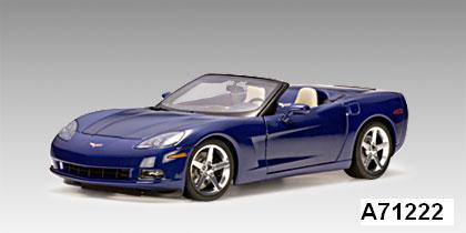 Chevrolet Corvette Convertible Blue C6 1/18 scale by AUTOart