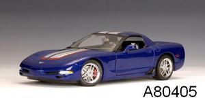 Chevrolet Corvette Coupe C5 Z06 Blue LeMans Commerative Edition 1/18 scale by AUTOart
