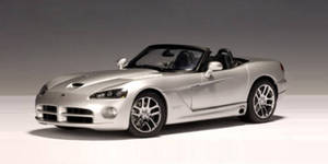 SALE Dodge Viper SRT 10 Roadster Silver 1/18th Scale by AUTOart