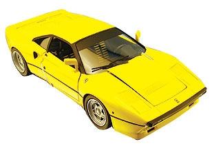 Ferrari 288 GTO Yellow 1/18 Scale by Hot Wheels ELITE Edition RARE FIND