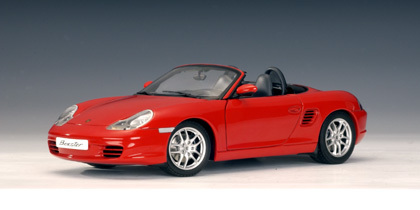 Porsche Boxster (986) Cabriolet Facelift Red 1:18 Scale by AUTOart