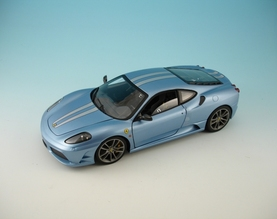 Ferrari F430 Scuderia Blue 1/18 Scale by Hot Wheels ELITE Edition