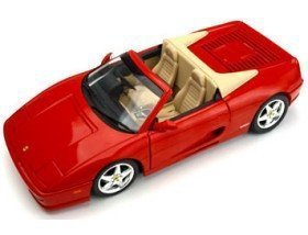 Ferrari F355 Spider Red & Tan 1/18th Scale by Hot Wheels
