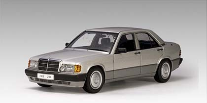 SALE Mercedes-Benz 190 E 2.0 SILVER 1/18th Scale by AUTOart SALE