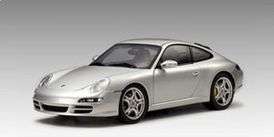 Porsche 911 S (997)  Carrera Coupe Silver 1/18 Scale by AUTOart