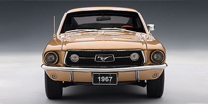 SALE Ford Mustang GT 390 Coupe (1967) Gold 1/18 Scale by AUTOart