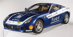 SALE Ferrari 599 GTB Blue Pan Am 1/18 Scale by Hot Wheels ELITE Edition SALE