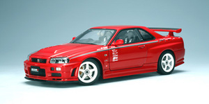 SALE NISSAN SKYLINE GT-R (R34) NISMO S-TUNE VERSION (Active Red)  by AUTOart SALE