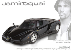 Ferrari Enzo Black Special Stars In Music Edition JAMIROQUAI 1/18th Scale by HOT WHEELS ELITE