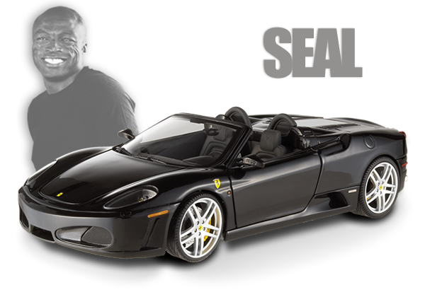 Ferrari F430 Spider Black Celebrities Ferrari Collection SEAL Special 1/18th Scale by HOT WHEELS ELITE