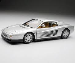 SALE Ferrari Testarossa Silver 1/18 Scale Hot Wheels ELITE Edition SALE