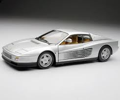 SALE Ferrari Testarossa Silver 1/18 Scale Hot Wheels ELITE Edition SALE