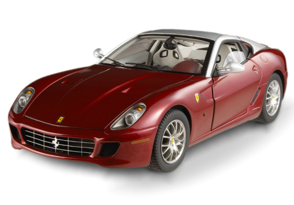 Ferrari 599 GTB Fiorano Burghangy & Silver RARE FERRARI COLLECTION 1/18 Scale by Hot Wheels ELITE Edition