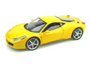 Ferrari 458 Italia Yellow 1/18th Scale by HOT WHEELS ELITE