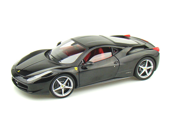 Ferrari 458 Italia Black 1/18th Scale by HOT WHEELS ELITE