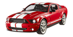 Ford Mustang Shelby GT 500 (2007) Red White Stripes 1/18th Scale by Hot Wheels Elite