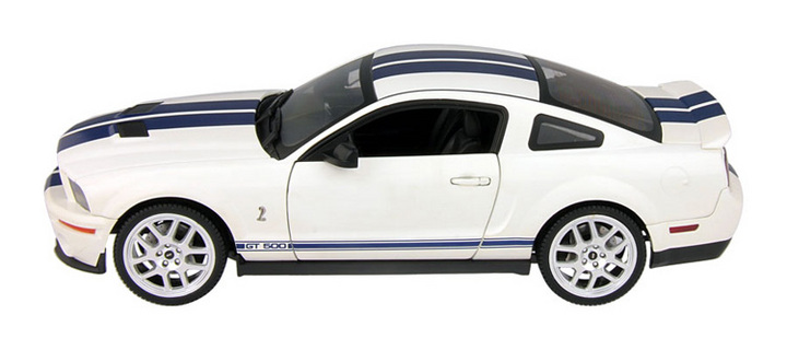 SALE Ford Mustang Shelby GT 500 (2007) Red White Stripes 1/18th Scale Hot Wheels Elite SALE
