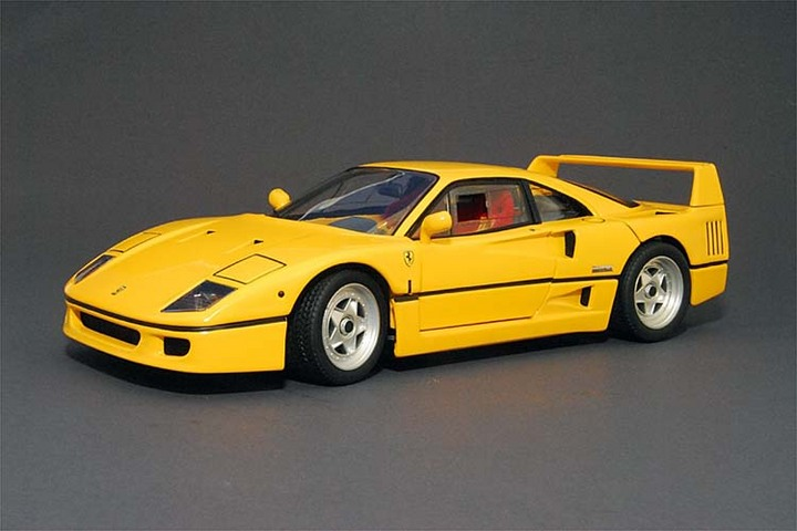 Ferrari F40 Yellow 1/18 Scale by Hot Wheels ELITE Edition