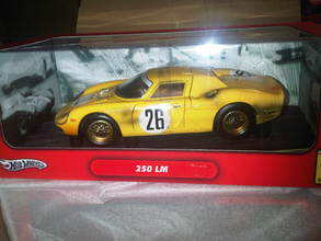 Ferrari 250 LeMans Yellow #26 1/18 Scale by Hot Wheels Dirty Race Car Edition NEW in BOX