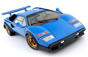 Lamborghini Countach 500S WOLF Edition Blue with Gold & Black Accents RARE