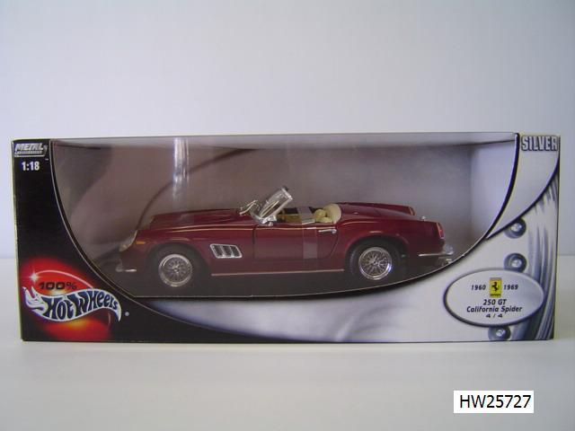 Ferrari 250 California Burghandy 1/18 Scale by Hot Wheels BASE Edition