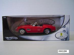 Ferrari 250 California Red 1/18 Scale by Hot Wheels BASE Edition
